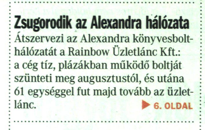 Zsugorodik az Alexandra hálózata