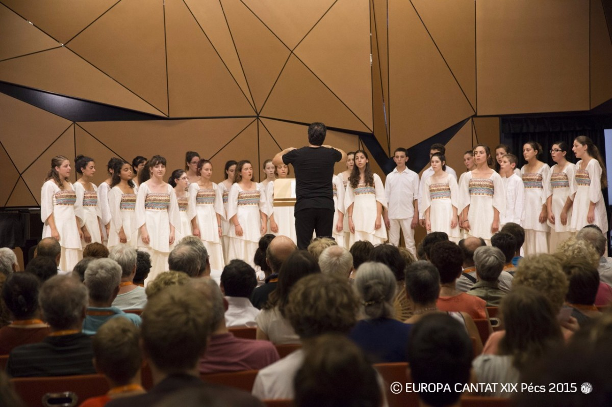 Pécs Efroni Choir koncert az Europa Cantaton